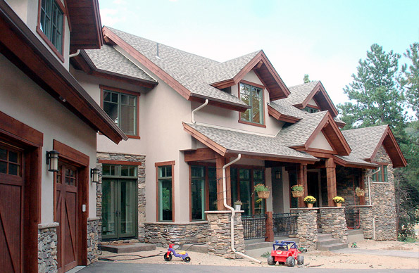evergreen colorado stucco siding