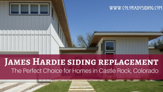 james hardie siding replacement castle rock