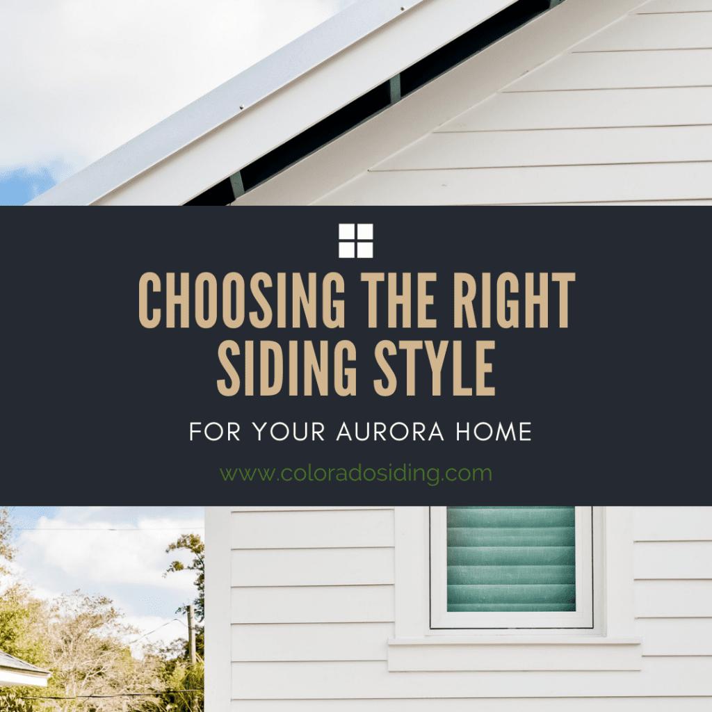 siding style aurora